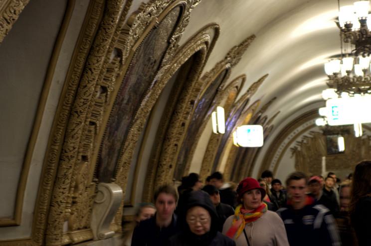 W Moskwie - metro